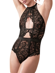 Sheer Lace Teddies Lingerie Backless Bodysuits For Women