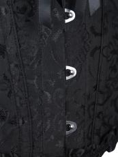 Vintage Plus Size Steel Boned Jacquard Overbust Corset Tops