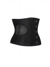 Satin Waist Cincher Training Corset Belt With Back 3 Hook