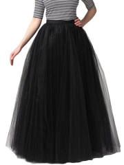 Vintage Women Petticoat Swing A Line Tulle Tutu Maxi Skirts