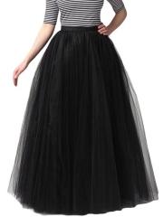 Vintage Women Petticoat Swing A Line Tulle Tutu Maxi Skirts