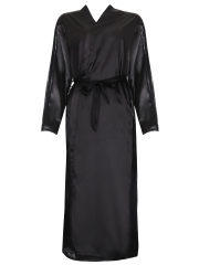 Elegant Long Sleeve Bathrobe Kimono Sleepwear Satin Robes