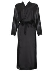 Elegant Long Sleeve Bathrobe Kimono Sleepwear Satin Robes