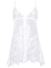 Transparent Lace Babydolls Sets Sexy Chemises Lingerie