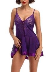 Lace Transparent Babydolls Chemise Dress Lingerie Sets