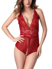 Deep V Sexy Lace Teddies Lingerie Bodysuits Nightwear