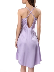 Women Sexy Satin Lace Nightgown Slip Nightdress Sleepwear