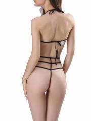 Women Sexy Halter Lace Bodysuit Strappy Lingerie Teddy