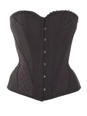 Plus Size Vintage 10 Steel Boned Overbust Lace Corset Tops