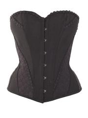 Plus Size Vintage 10 Steel Boned Overbust Lace Corset Tops
