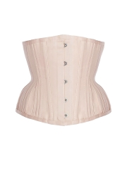 Vintage Satin 18 Steel Boned Waist Cincher Training Corsets