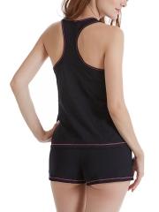 Women Sleeveless Pajama Set Tank Top and Shorts Sleepwear