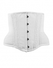 White Satin Underbust 10 Steel Boned Waist Training Corsets