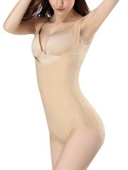 Women Open Bust Bodysuit Tummy Control Body Shaper Shapewear