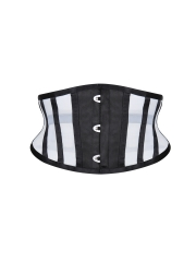 Sheer Short Torso 14 Steel Boned Mesh Waist Training Corset
