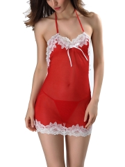 See Through Mesh BabyDolls Backless Lace Chemises Lingerie