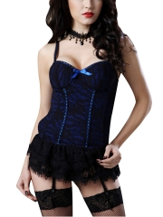 Plus Size Lace Sexy Overbust Corset Tops With Garters