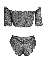 Sexy Strapless Wirefree Non Padded Lace Bra Sets Lingerie