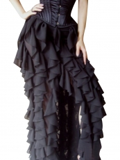 Victorian Gothic Steampunk Costume Ruffled Maxi Skirts