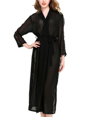 Long Sleeve Nightrobes Transparent Robes Sleepwear For Women