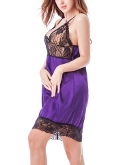 See Through Transparent Satin Chemises Babydolls Lingerie