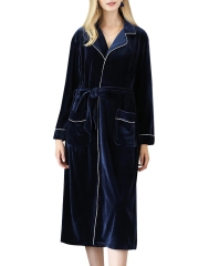 Long Sleeve Warm Luxury Bathrobes Velvet Robes For Women