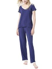 Two Pieces Women Long Sleeve Modal Pajamas Sets Sleepwear