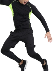 3 Pieces Men's Compression Shapewear Sport Running Sets