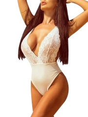 Women One Piece Lace Teddies Lingerie Sexy Babydoll Bodysuit