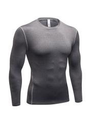 Mens Quick Dry Compression Sleepwear Long Sleeve Undershirts