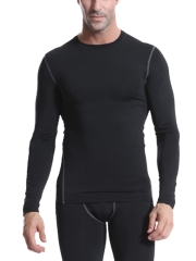 Mens Quick Dry Compression Sleepwear Long Sleeve Undershirts