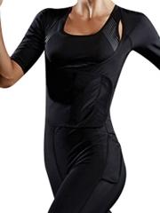 Short Sleeve Sports Waist Trainer Hot Sweat Body Shaper