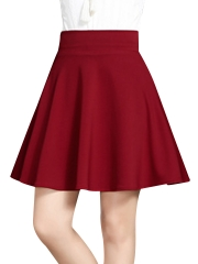 Women's Vintage A-Line Pleated Flared Mini Skirts Wholesale