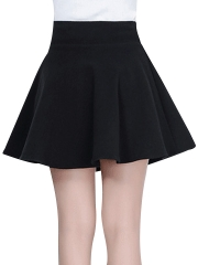 Vintage High Waist Casual Pleated Mini Party Swing Skirts