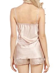 Women Satin Pajamas Cami Shorts Set Nightwear Sleepwear