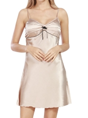 Women Soft Satin Nightgowns Nightdress Sleepwear Wholesale