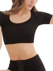 Women Shapewear Short Sleeve Crop Top Arm Body Shapers