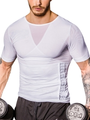 Mens Slimming Compression Shapewear Body Shaper With 3 Hooks