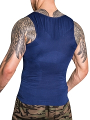 Mens Body Shaper Compression Vest Elastic Slim Shapewear