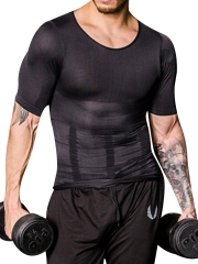 Short Sleeve Men's Shapewear Compression Top Body Shaper