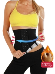 Latex Blasting Sweat Corset 9 Steel Boned Hot Waist Shaper