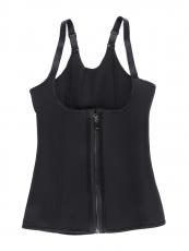 Steel Boned Waist Corset Workout BodyShaper Vest with Zipper