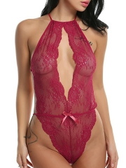 Women One Piece Sexy Bodysuit Teddy Lingerie Lace Babydoll