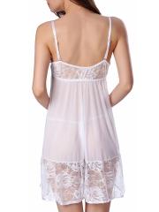 Transparent Lingerie Lace Babydoll V Neck Sleepwear Chemise