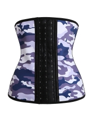 Women Hole Latex 9 Steel Boned Waist Training Corsets