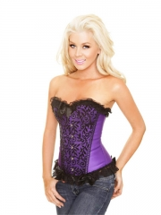 Noble Purple Elegant Women Corset Bustier Wholesale