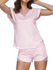Women Satin Pajamas Sleepwear Sexy Cami Shorts Pajama Sets