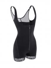 Slimming Waist Cincher Latex Zipper Firm Control Shapewear