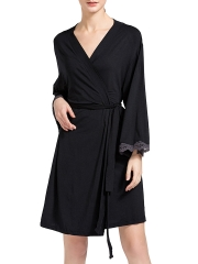 Cotton Bathrobe Lightweight Lounge Robe Comfort Sleepwear