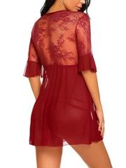 Sexy Lingerie Lace Dress Babydoll Women Chemises Sleepwear